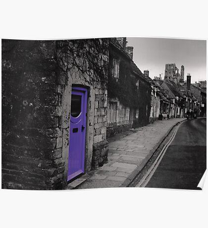 Purple door Poster