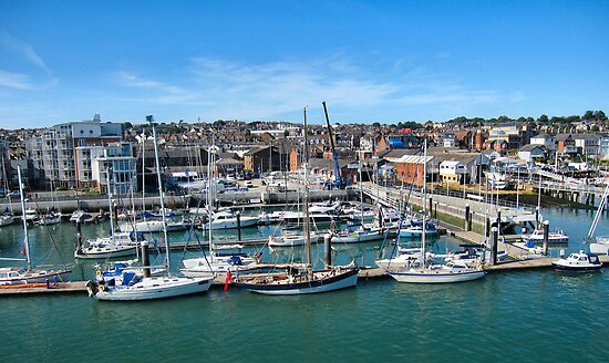 The marinas and boatyards of Cowes.1 by ronsaunders47