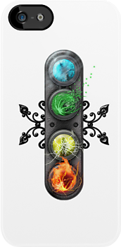 "Final Fantasy - Materia "" Elements"" iPhone case by Reverendryu"