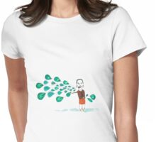 The power peacock Womens Fitted T-Shirt