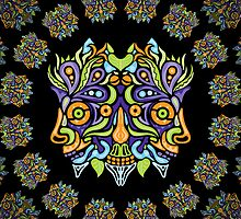 Psychedelic tribal jungle ornament by Andrei Verner