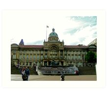 A library in Birmingham,UK at the bull ring Art Print