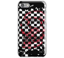 Skull checkered pattern 1 iPhone Case/Skin