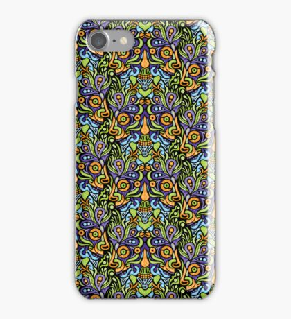 Psychedelic tribal jungle ornament iPhone Case/Skin