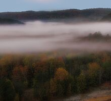 Morning Mist From Broken Bow Dam by Carolyn  Fletcher