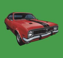 Australian Muscle Car - HT Monaro, Sebring Orange Kids Tee