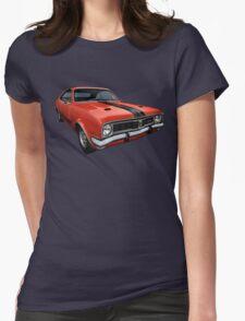 Australian Muscle Car - HT Monaro, Sebring Orange Womens Fitted T-Shirt