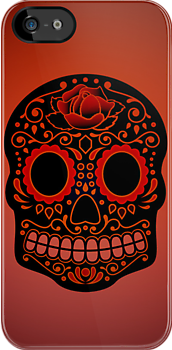 iPhone Case - Colour Skull #2 by fenjay