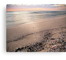 Pastel sunset with shells Canvas Print
