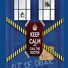Tardis out of order keep calm iphone by viperbarratt