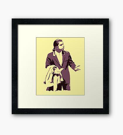 Vincent Vega 0hmm big Framed Print