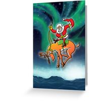 Christmas Rodeo Greeting Card