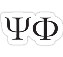 psi-phi (white) Sticker
