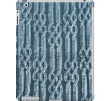 Knitted ribs and braided cables iPad Case/Skin