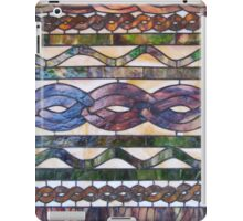 Knitted cables inspire stained glass iPad Case/Skin
