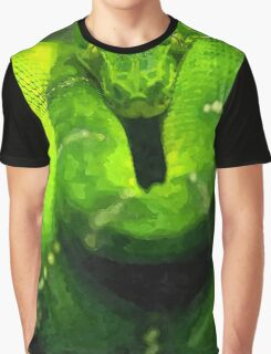 Wild nature - green snake Graphic T-Shirt