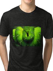Wild nature - green snake Tri-blend T-Shirt