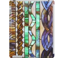 Stained glass vertical knitted cables iPad Case/Skin