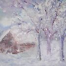 Snowy Cottage by Ruth Vilmi