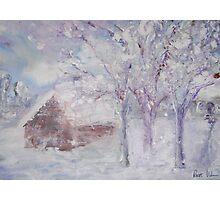 Snowy Cottage Photographic Print