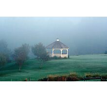 Misty Morning Gazebo Photographic Print