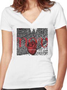 november = multiplication Women's Fitted V-Neck T-Shirt