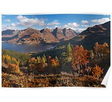 Five Sisters of Kintail, from Mam Ratagan. North West Scotland. Poster