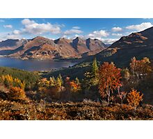 Five Sisters of Kintail, from Mam Ratagan. North West Scotland. Photographic Print