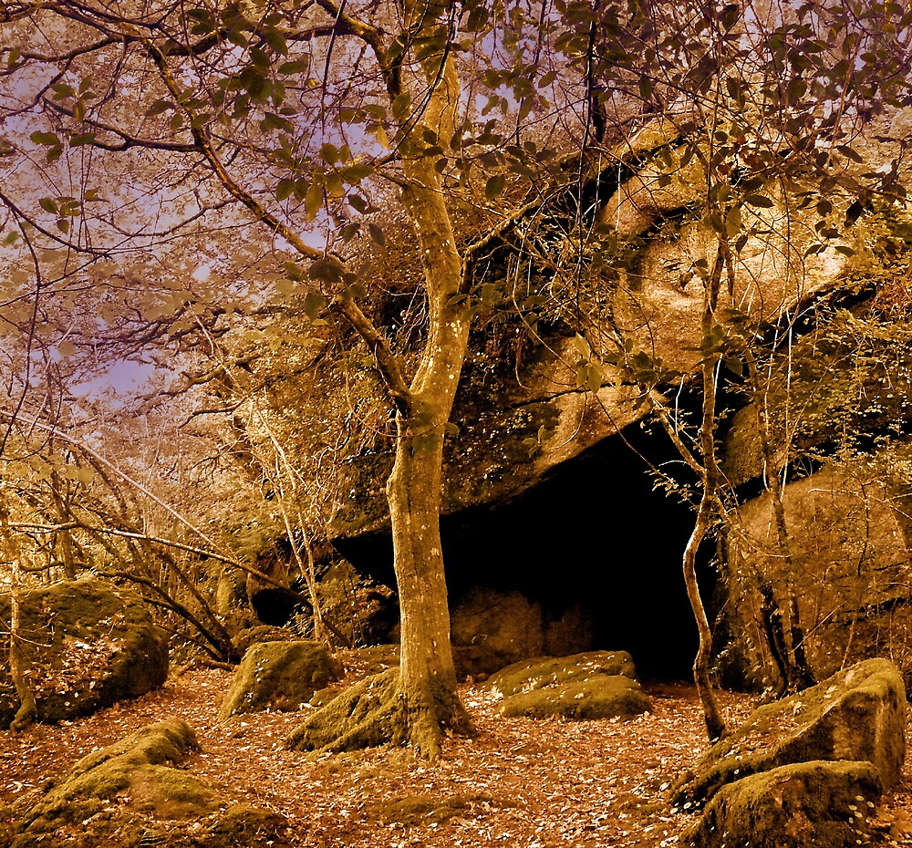 The Dragon's Cave of Lustleigh Cleave by angelvixen