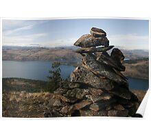 Rock Cairn Poster