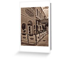 Two-Bit Street Cafe Greeting Card