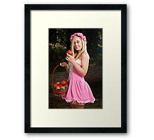 Do you want to taste my apple! Framed Print