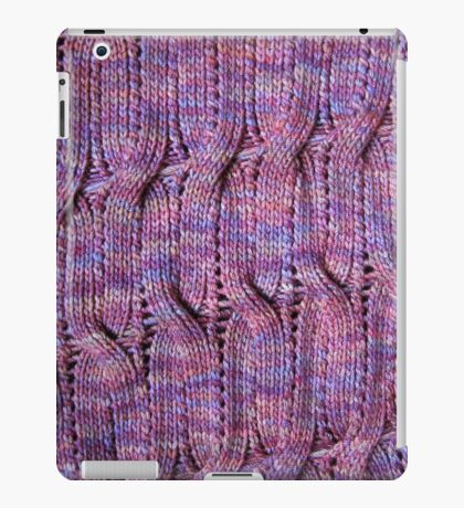 Onda Viola knitted cables and lace iPad Case/Skin