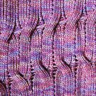 Onda Viola knitted cables and lace by knititude