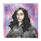 Jessica Jones Watercolor by kahahuna