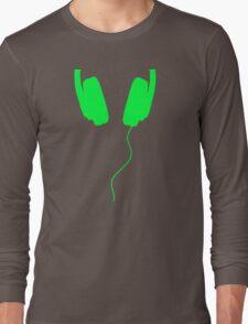 listen to the music green Long Sleeve T-Shirt