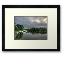Memorial Lake Framed Print