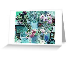 CARNATIONS IN VASE Greeting Card