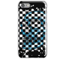 Skull checkered pattern 4 iPhone Case/Skin