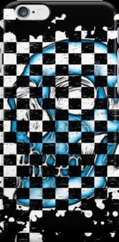 Skull checkered pattern 4 by MrBliss4