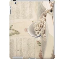Vintage Still Life with Pearls and Book  iPad Case/Skin