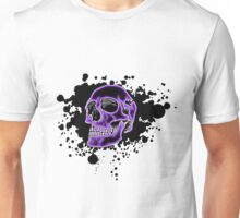 Purple Glow Skull Unisex T-Shirt