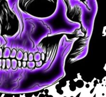 Purple Glow Skull Sticker