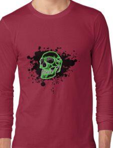 Green Skull Glow Long Sleeve T-Shirt