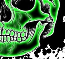 Green Skull Glow Sticker