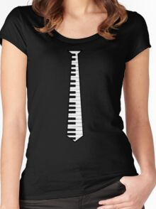 piano tie Women's Fitted Scoop T-Shirt