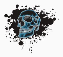 Blue Glow Skull by MrBliss4