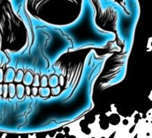 Blue Glow Skull Sticker