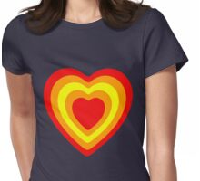 sunset hearts Womens Fitted T-Shirt