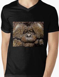 Wild nature - chimp Mens V-Neck T-Shirt